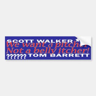 Scott Walker Bumper Sticker Car Bumper Sticker