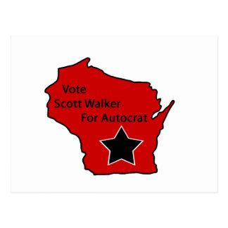 Scott Walker for autocrat Postcard