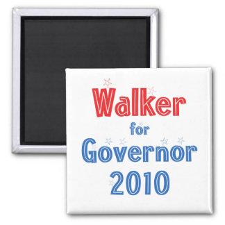 Scott Walker for Governor 2010 Star Design 2 Inch Square Magnet
