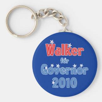 Scott Walker for Governor 2010 Star Design Basic Round Button Keychain