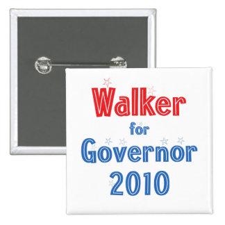 Scott Walker for Governor 2010 Star Design Pinback Button