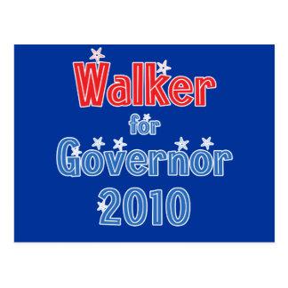 Scott Walker for Governor 2010 Star Design Postcard