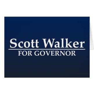 Scott Walker for Governor Card