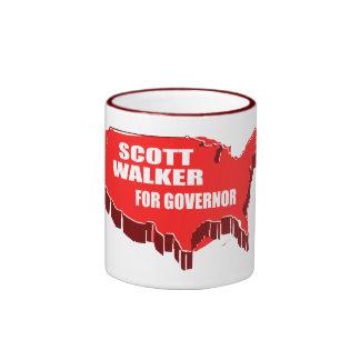 SCOTT WALKER FOR GOVERNOR RINGER COFFEE MUG