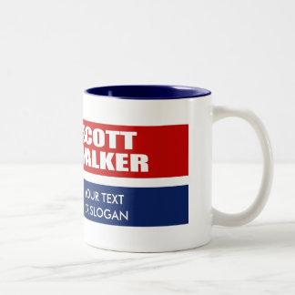 SCOTT WALKER FOR GOVERNOR Two-Tone COFFEE MUG
