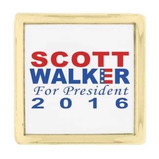 Scott Walker for President 2016 Campaign Gold Finish Lapel Pin