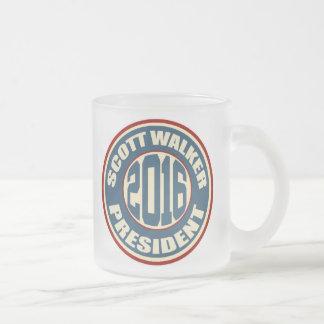 Scott Walker for President 2016 Frosted Glass Coffee Mug