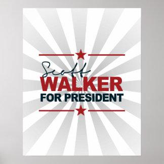 Scott Walker For President 2016 Signature Poster