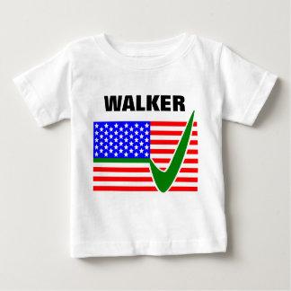 Scott Walker for President 2016 USA Flag Baby T-Shirt