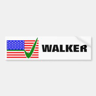Scott Walker for President 2016 USA Flag Bumper Sticker