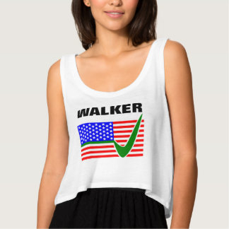 Scott Walker for President 2016 USA Flag Flowy Crop Tank Top