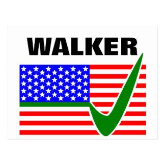 Scott Walker for President 2016 USA Flag Postcard