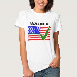 Scott Walker for President 2016 USA Flag T-shirt
