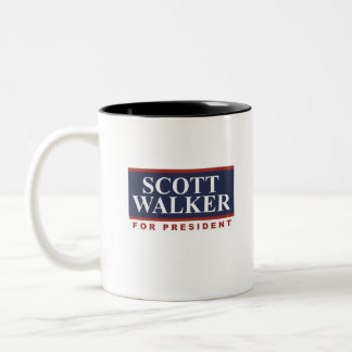 Scott Walker for President Campaign Sign Two-Tone Coffee Mug
