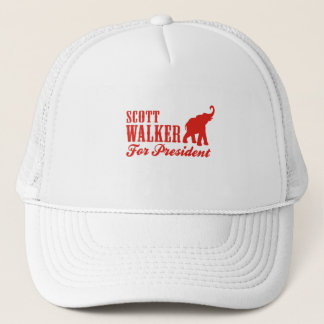 SCOTT WALKER FOR PRESIDENT (GOP) TRUCKER HAT