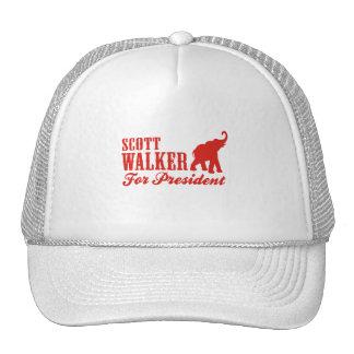 SCOTT WALKER FOR PRESIDENT (GOP) TRUCKER HAT
