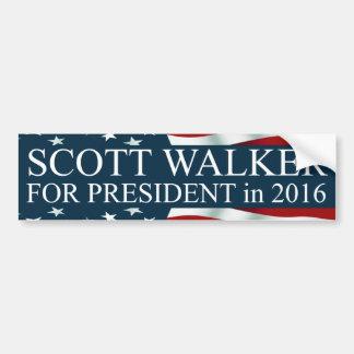 Scott Walker for President in 2016 Car Bumper Sticker