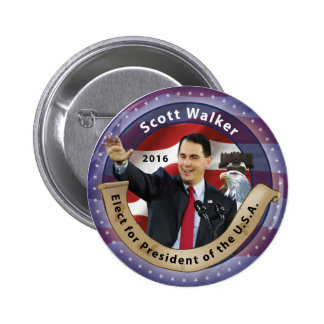 Scott Walker for President of the U.S.A. - 2016 Button