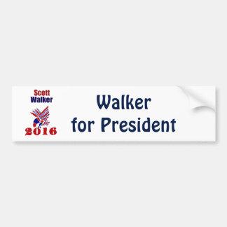 Scott Walker for President Political Art Car Bumper Sticker