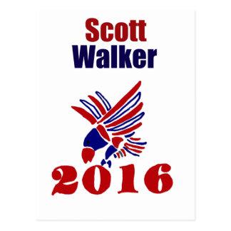Scott Walker for President Political Art Postcard