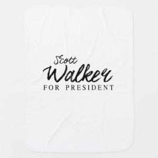 Scott Walker For President Signature Receiving Blanket