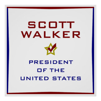 Scott Walker for President USA Poster