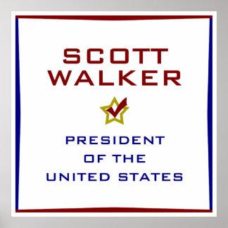 Scott Walker for President USA Poster