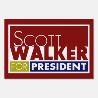 Scott Walker for President V1 Yard Lawn Sign