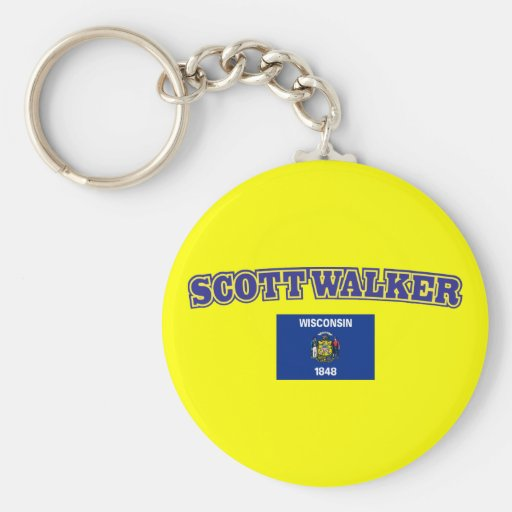 Scott Walker for Wisconsin Basic Round Button Keychain