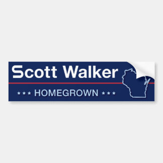 Scott Walker Homegrown in Wisconsin Bumper Sticker