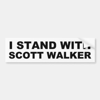 Scott Walker I Stand Bumper Sticker