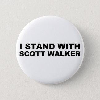 Scott Walker I Stand Pinback Button