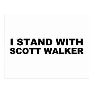 Scott Walker I Stand Postcard