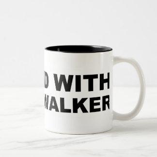 Scott Walker I Stand Two-Tone Coffee Mug