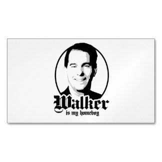 Scott Walker is my Homeboy Magnetic Business Cards (Pack Of 25)