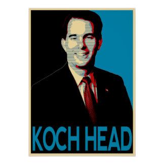 Scott Walker -- Koch Head Poster