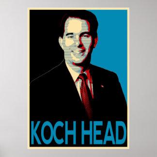 Scott Walker -- Koch Head Poster