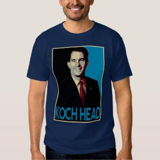 Scott Walker -- Koch Head T-shirts
