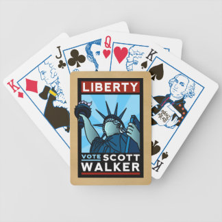 Scott Walker Liberty Bicycle Playing Cards