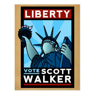 Scott Walker Liberty Postcard