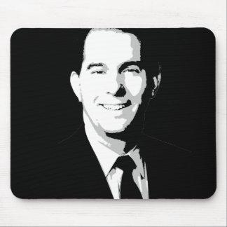 Scott Walker Political Portrait Mouse Pads
