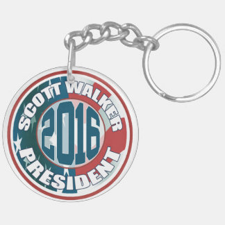 Scott Walker President 2016 Keychain