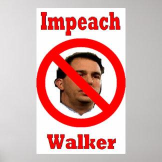 Scott Walker protest poster