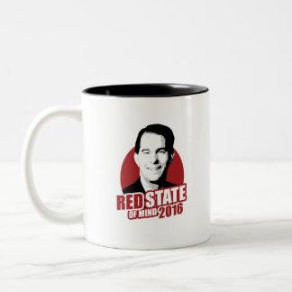 Scott Walker Red State of Mind 2016 Mug