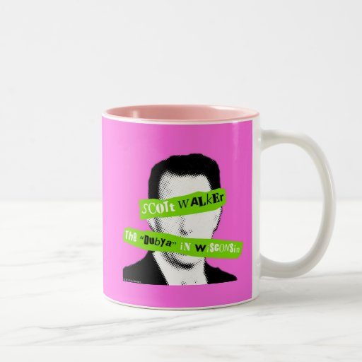 "Scott Walker The ""Dubya"" in Wisconsin Two-Tone Coffee Mug"