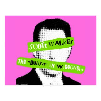 """Scott Walker The """"Dubya"""" in Wisconsin Postcard"""