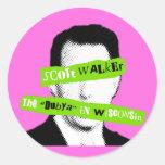 "Scott Walker The ""Dubya"" in Wisconsin Classic Round Sticker"