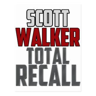 Scott Walker - Total Recall Postcard