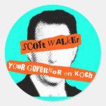 Scott Walker Your Governor on Koch Classic Round Sticker