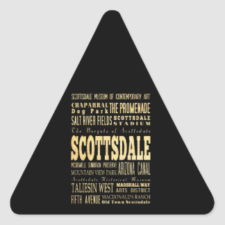 Scottdale City of Georgia Typography Art Triangle Sticker